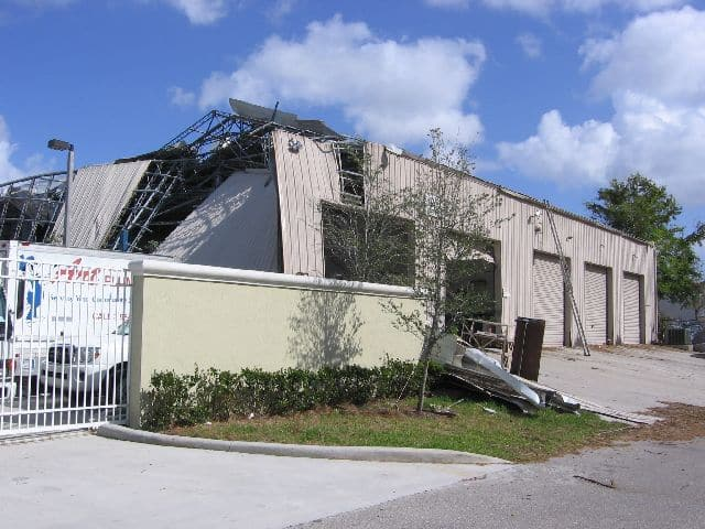 Warehouse Wind damage, Coral Springs, Florida