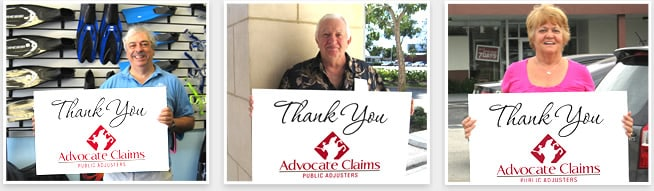 Advocate Claims Public Adjuster Satisfied Clients