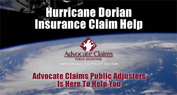 Hurricane Dorian Insurance Claim Help