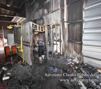 Fire Damage to Warehouse